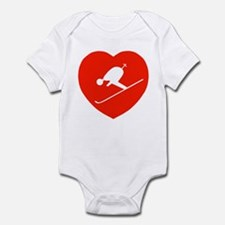 Love Skiing Heart Infant Creeper
