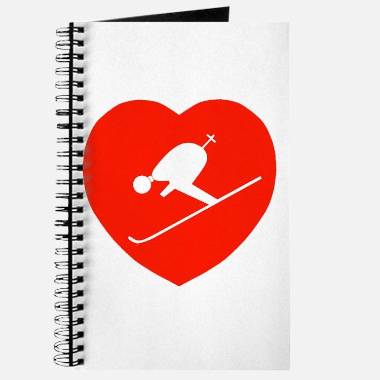 Love Skiing Heart Journal