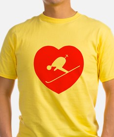 Love Skiing Heart T
