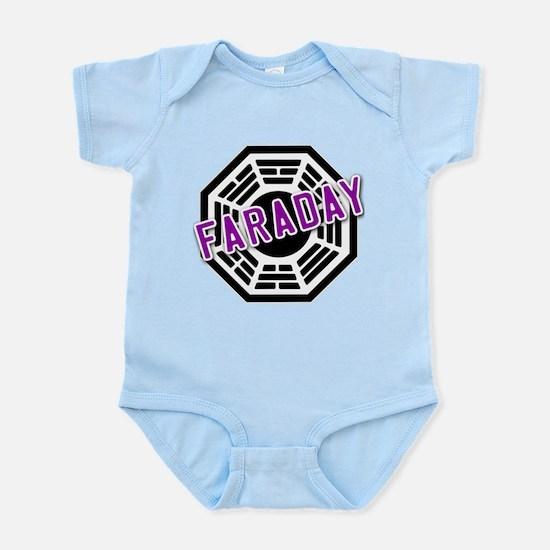 FARADAY Dharma Logo from LOST Infant Bodysuit