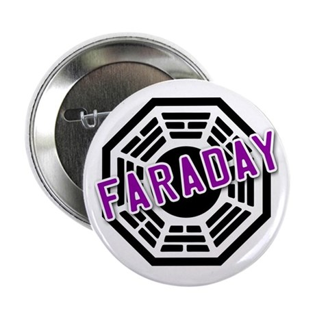 """FARADAY Dharma Logo from LOST 2.25"""" Button"""