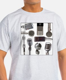 Retro Microphone Collage T-Shirt