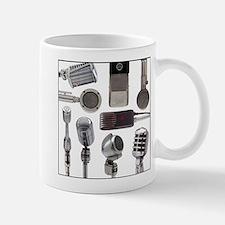Retro Microphone Collage Mug