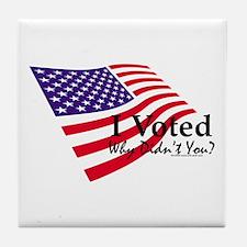 I Voted Flag Tile Coaster