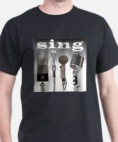 4 Microphones with Sing T-Shirt