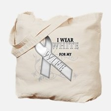 I Wear White for my Wife Tote Bag