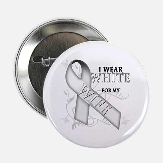 "I Wear White for my Wife 2.25"" Button (10 pack)"