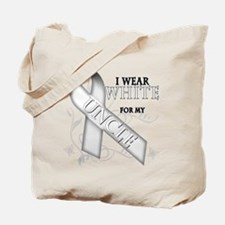 I Wear White for my Uncle Tote Bag