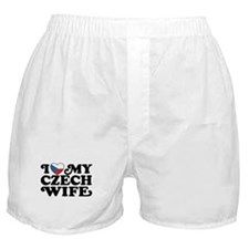 I Love My Czech Wife Boxer Shorts