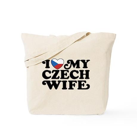 I Love My Czech Wife Tote Bag