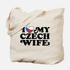 I Love My Czech Wife Tote Bag