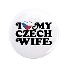 """I Love My Czech Wife 3.5"""" Button"""