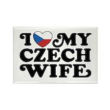 I Love My Czech Wife Rectangle Magnet