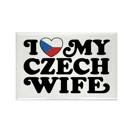 I Love My Czech Wife Rectangle Magnet