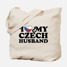 I Love My Czech Husband Tote Bag