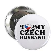 """I Love My Czech Husband 2.25"""" Button"""