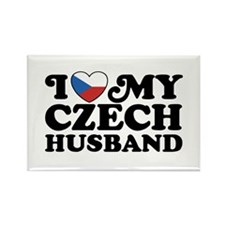 I Love My Czech Husband Rectangle Magnet