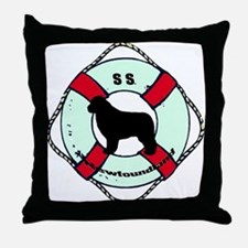 Newfie The Sailor Dog Throw Pillow