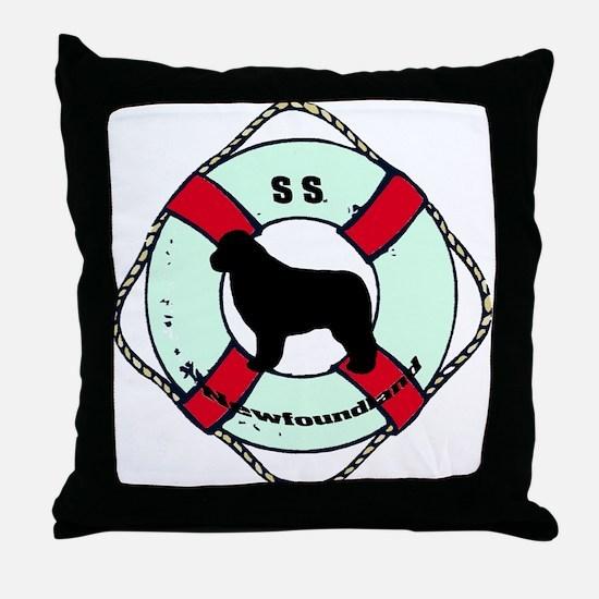 Newfie The Sailor Dog Throw Pillow