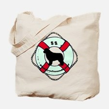 Newfie The Sailor Dog Tote Bag