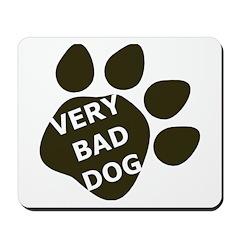 Very Bad Dog black paw Mousepad