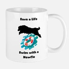 Swim With A Newfie! Mug