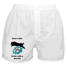 Swim With A Newfie! Boxer Shorts