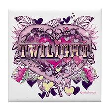 Twilight Old World Heart Tile Coaster
