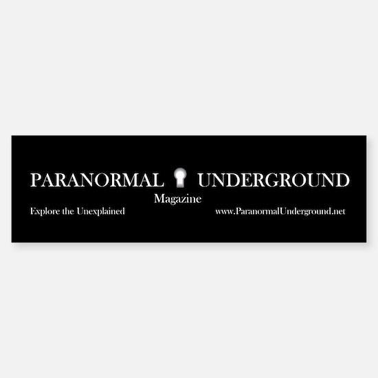 Paranormal Underground Bumper Bumper Bumper Sticker