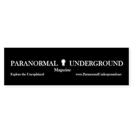 Paranormal Underground Bumper Sticker