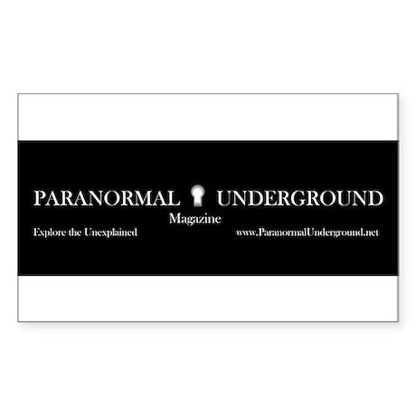 Paranormal Underground Rectangle Sticker