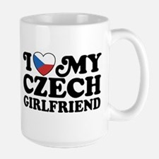 I Love My Czech Girlfriend Large Mug