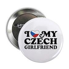 """I Love My Czech Girlfriend 2.25"""" Button"""