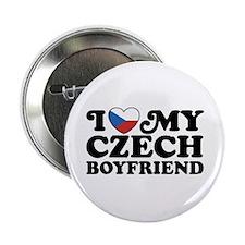 """I Love My Czech Boyfriend 2.25"""" Button"""