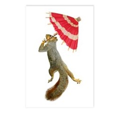 Squirrel with Parisol Postcards (Package of 8)