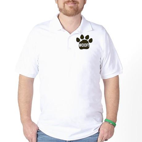 WOOF paw black Golf Shirt