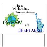 I'm a Moderate Yard Sign