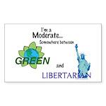I'm a Moderate Rectangle Sticker 10 pk)