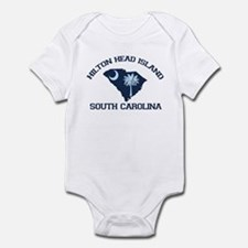 Hilton Head Island - Map Design Infant Bodysuit