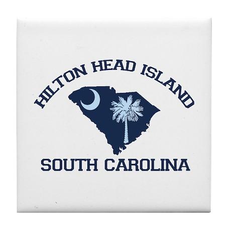Hilton Head Island - Map Design Tile Coaster