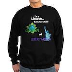 I'm a Moderate Sweatshirt (dark)