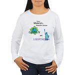 I'm a Moderate Women's Long Sleeve T-Shirt
