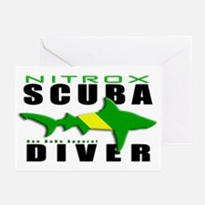 Scuba Diver: Nitrox Shark Greeting Cards (Pk of 20