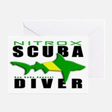 Scuba Diver: Nitrox Shark Greeting Card