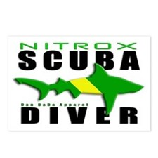 Scuba Diver: Nitrox Shark Postcards (Package of 8)