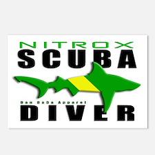 Scuba Diver: Nitrox Shark Postcards (Package of 8)