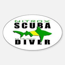 Scuba Diver: Nitrox Shark Oval Decal