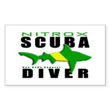 Scuba Diver: Nitrox Shark Rectangle Decal
