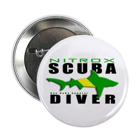 """Scuba Diver: Nitrox Shark 2.25"""" Button (100 pack)"""