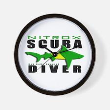 Scuba Diver: Nitrox Shark Wall Clock